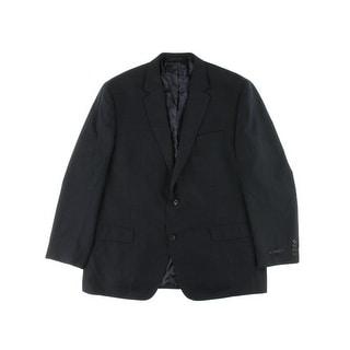 Andrew Fezza Mens Checkered Notch Collar Two-Button Blazer - 42S