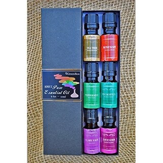 9GreenBox - Pure Therapeutic Grade Essential Oil Gift Set 6/10 Ml