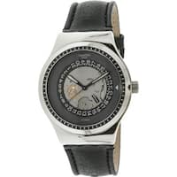 Swatch Men's Sistem Solaire  Silver Leather Automatic Fashion Watch