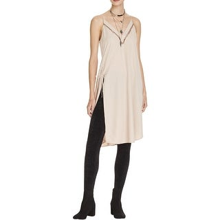 Free People Womens Casual Dress Side Slit Tent