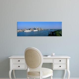 Easy Art Prints Panoramic Images's 'New Orleans Skyline, Sunrise, Louisiana' Premium Canvas Art