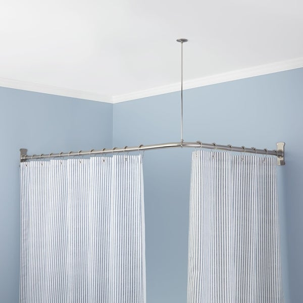 Signature Hardware 913110 72X36 72 X 36 Corner Shower Curtain