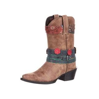 Durango Western Boots Girls Big Kid Accessorize Straps Brown DBT0170