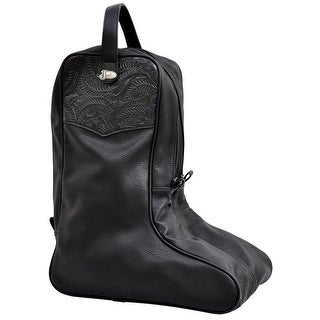 Justin Western Boot Bag Embossed Concho Overlay Zip Closure JBBB10