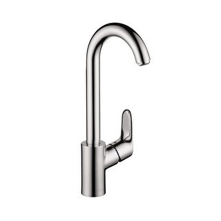 Hansgrohe 4507 Focus High-Arc Bar Faucet with Quick Clean Aerator - Includes Lifetime Warranty
