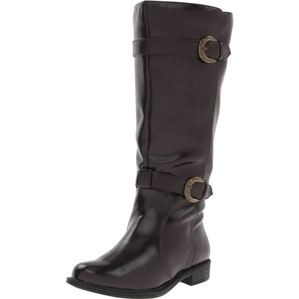 David Tate Brown Shoes Size 7.5M Mustang Knee High Boot