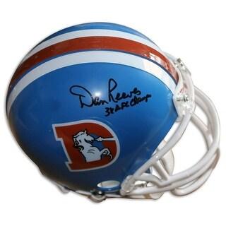 Dan Reeves Denver Broncos Autographed Mini Helmet Inscribed 3X AFC Champs