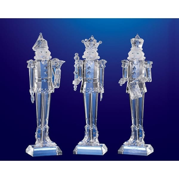 """Pack of 6 Icy Crystal Decorative Christmas Nutcrackers 9"""""""