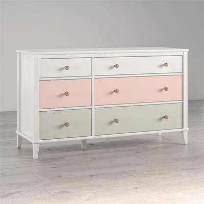 Little Seeds Monarch Hill Poppy White 6-drawer Dresser
