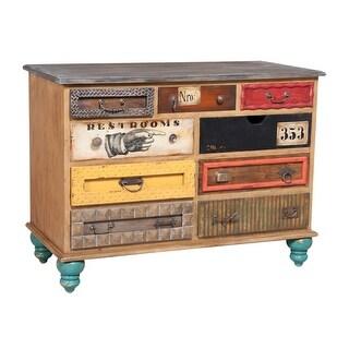 "GuildMaster 643527  Mosaic 47"" Wide 9 Drawer Mahogany Dresser - Artisan Stain"