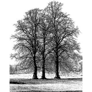 "Crafty Individuals Unmounted Rubber Stamp 4.75""X7"" Pkg-Tree"