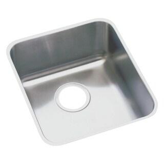 """Elkay ELUHAD161650  Lustertone Stainless Steel 18-1/2"""" x 18-1/2"""" ADA Undermount Single Bowl Sink with 4-7/8"""" Depth"""