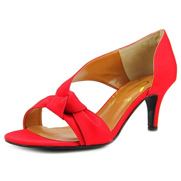 J. Renee Jaynnie Women Red Sandals