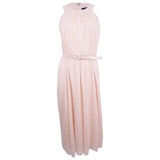 Tommy Hilfiger Women's Belted Chiffon Midi Dress - Powder (2 options available)
