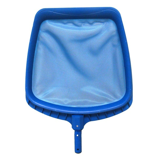 "14"" Heavy-Duty Blue Plastic Swimming Pool Leaf Skimmer Head"