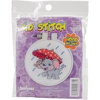 "Kid Stitch Rainy Day Elephant Counted Cross Stitch Kit-3"" Round 11 Count"