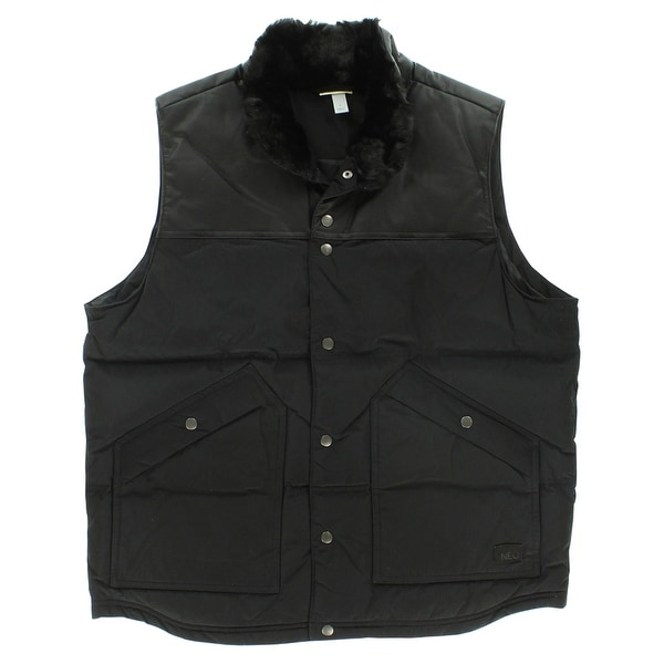 5bcbdfd0b9f2 Shop Adidas Mens Utility Down Vest Black - Free Shipping Today - Overstock  - 22545403