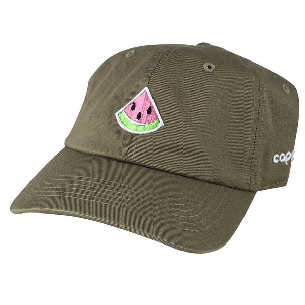 758ece64708 Shop Emoji 3D Watermelon Unstructured Adjustable Dad Hat Cap - Khaki - Free  Shipping On Orders Over  45 - Overstock.com - 16836242