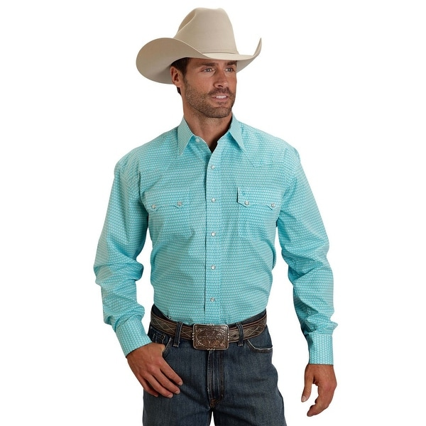 0adffd92ca1 Shop Stetson Western Shirt Mens L S Print Snap Blue - Free Shipping Today -  Overstock - 15380969