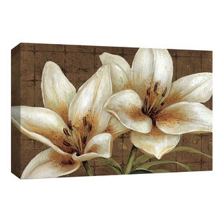 """PTM Images 9-153866  PTM Canvas Collection 8"""" x 10"""" - """"White Gold"""" Giclee Flowers Art Print on Canvas"""