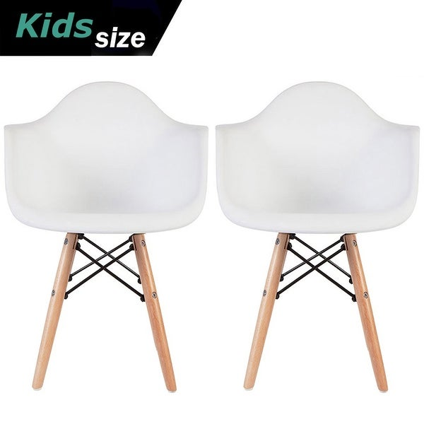 2xhome Set of 2 Kids Armchair Natural Wood legs For Children Child Preschool Kitchen Dining Home Living Room Play Activity