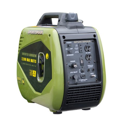 Offex 2200 Surge Watts Dual Fuel Portable Inverter Generator - Green