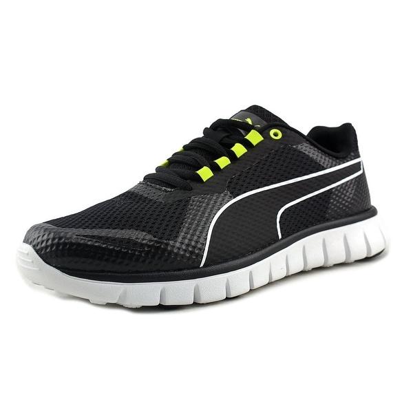 Puma Blur Men Round Toe Canvas Black Tennis Shoe