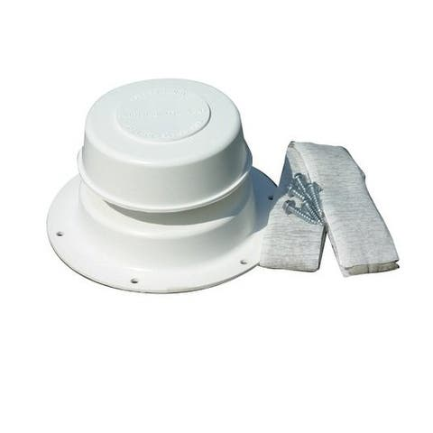Camco 40033 Replace All Plumbing RV Vent Kit, Polar White