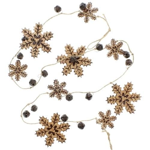 Glisten Snowflake Garland