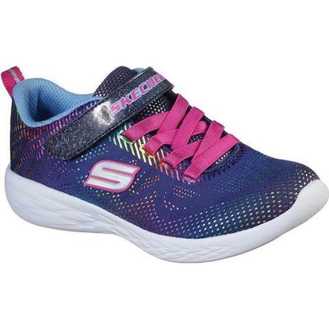 Skechers Girls' GOrun 600 Shimmer Speed Sneaker Navy/Multi