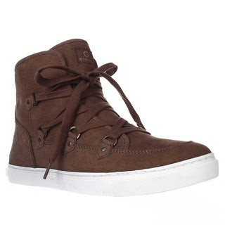 GUESS Otter High Top Quilt Heel Fashion Sneakers, Medium Natural