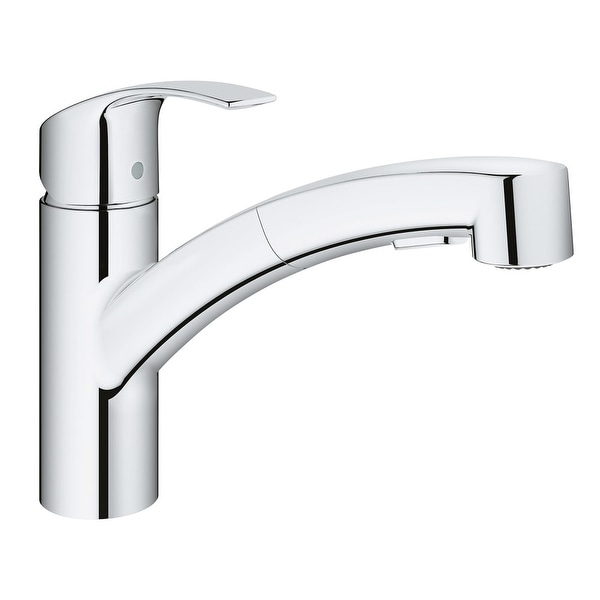 Grohe 30 306 Eurosmart Pull Out Spray Kitchen Faucet With SilkMove, And  QuickFix Technologies