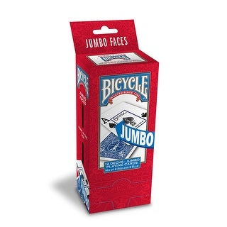 Bicycle Poker Size Jumbo Index Playing Cards (Pack of 12) Red/Blue - Red