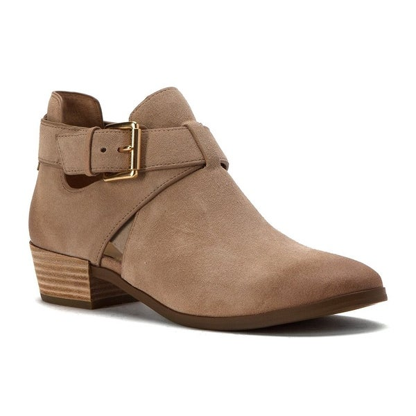 MICHAEL Michael Kors Womens Mercer Leather Almond Toe Ankle Fashion Boots