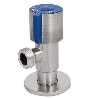 M20 Dia Male Thread 304 Stainless Steel Brass Core Angle Stop Valve Silver Tone