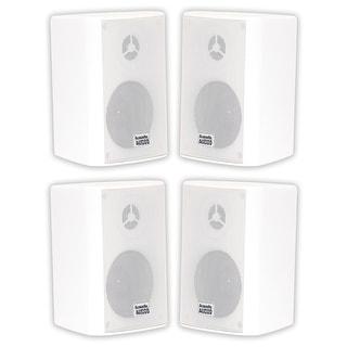 Acoustic Audio AA351W Outdoor 2 Way White Speakers 1000W 2 Pair Pack AA351W-2Pr