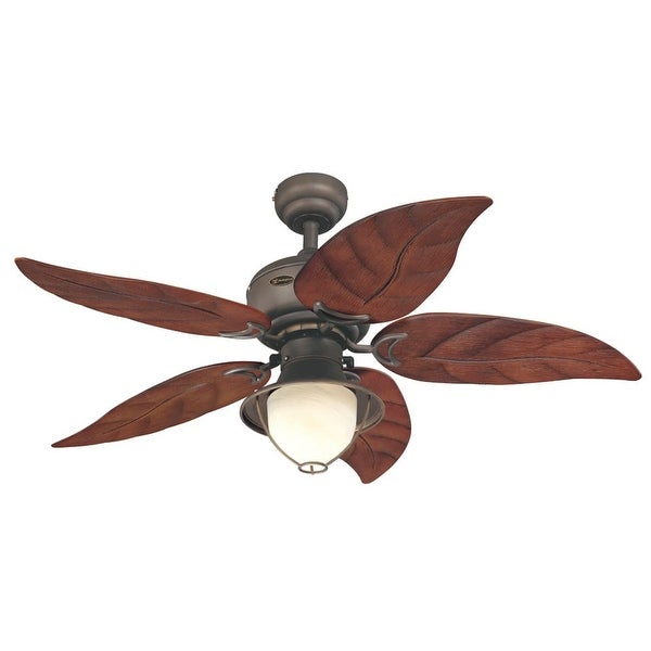 """Westinghouse 7861965 Oasis 48"""" 5 Blade Hanging Indoor Ceiling Fan with Reversible Motor, Blades, Light Kit, & Down Rod Included"""