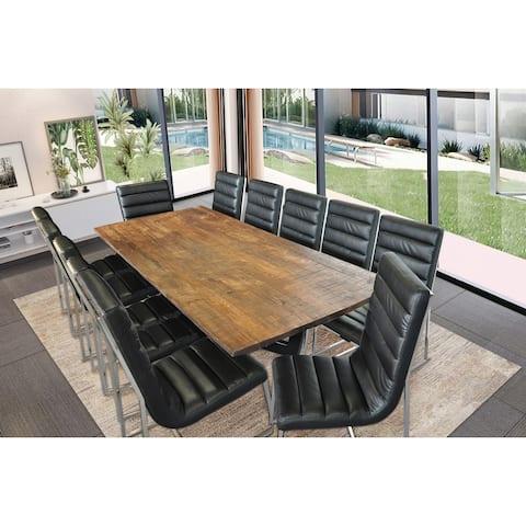 Vita Rustic Solid Wood Rectangular Table Dining Set