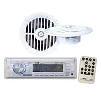 AM/FM-MPX PLL Tuning Radio w/SD/MMC USB + Two 5 1/4'' Dual Cone Waterproof Stereo Speaker System