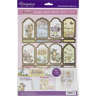 Hunkydory Garden Treasures Luxury A4 Topper Set-Floral Moments