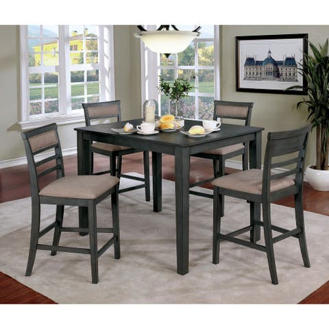 Furniture of America Yevana Contemporary 5-piece Counter Height Dining Set