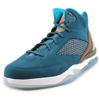 Jordan Flight Remix Men  Round Toe Leather Blue Basketball Shoe