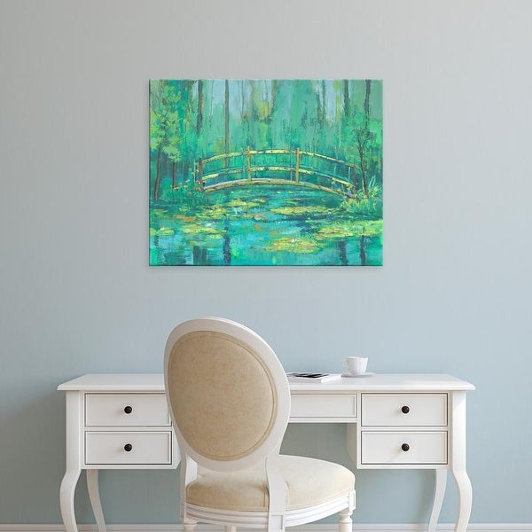 Easy Art Prints Julie Joy's 'A River Crossing II' Premium Canvas Art