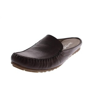 Rose Petals by Walking Cradles Womens Estee Leather Moc Toe Slides - 6 extra wide (e+, ww)