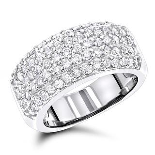 Link to Luxurman Diamond Wedding Bands 14K Pave Diamond Band 1.5ct Similar Items in Wedding Rings