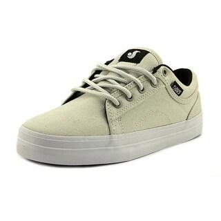 DVS Aversa Youth Round Toe Leather White Skate Shoe