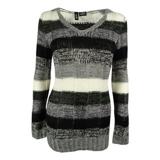Ultra Flirt Juniors' Hooded Striped Tunic Sweater