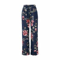 Joie Navy Blue Women's Size Small S Floral Print Silk Pants