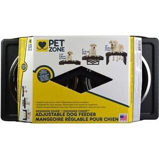- Pet Zone Designer Diner Adjustable Raised Dog Feeder