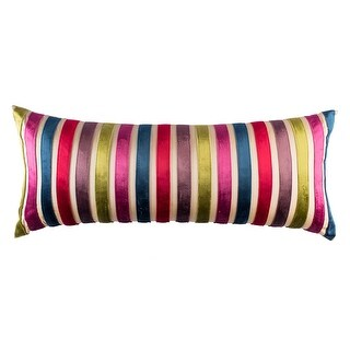 100% Handmade Imported French Jewels Throw Pillow Cover, Multicolor on Cream - Multi-color/Off White